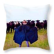 Dont Look Ethel Throw Pillow by Al Bourassa