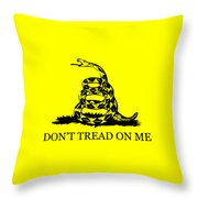 Don't Tread On Me Flag Throw Pillow by War Is Hell Store