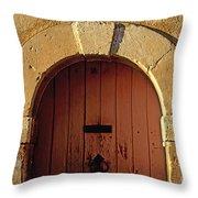 Door Throw Pillow by Bernard Jaubert