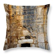 Doorway Church Of The Nativity Throw Pillow by Thomas R Fletcher