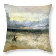 Dover Throw Pillow by Joseph Mallord William Turner