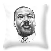 Dr. Martin Luther King Throw Pillow by Murphy Elliott