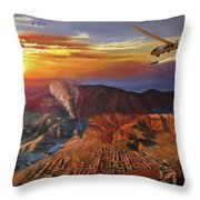 Dragon Dawn Mq1 Predator Throw Pillow by Todd Krasovetz