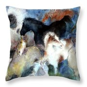 Dream Of Wild Horses Throw Pillow by Christie Michelsen