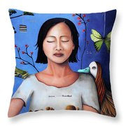 Dream Within A Dream 3 Throw Pillow by Leah Saulnier The Painting Maniac