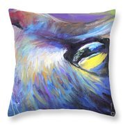 Dreamer Tubby Cat painting Throw Pillow by Svetlana Novikova