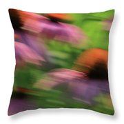 Dreaming of Flowers Throw Pillow by Karol  Livote