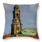 Dresden Kreuzkirche - Church Of The Holy Cross Throw Pillow by Christine Till