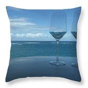 Drinks on the Terrace Throw Pillow by Anna Villarreal Garbis