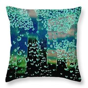 Drops Of Rain Throw Pillow by Shirley Sirois