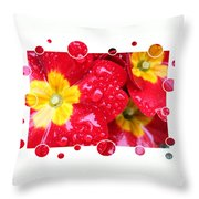 Drops Upon Raindrops 4 Throw Pillow by Carol Groenen