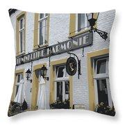 Dutch Cafe - Digital Throw Pillow by Carol Groenen