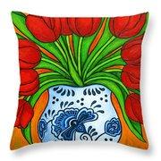 Dutch Delight Throw Pillow by Lisa  Lorenz