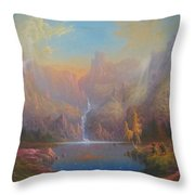 Dwarf Kingdom The Crown Of Durin Throw Pillow by Joe  Gilronan