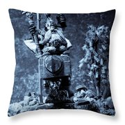 Dwarven Holy Anvil Throw Pillow by Marc Garrido