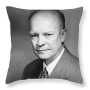 Dwight Eisenhower Throw Pillow by War Is Hell Store