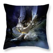 Dying Swan Throw Pillow by Mary Hood