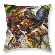 Dynamism Of A Cyclist Throw Pillow by Umberto Boccioni