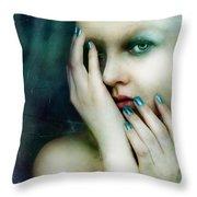 Dysthymia Throw Pillow by Mary Hood