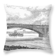 EADS BRIDGE, ST LOUIS Throw Pillow by Granger