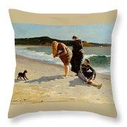 Eagle Head Manchester Massachusetts Throw Pillow by Winslow Homer