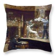 Eakins: Between Rounds Throw Pillow by Granger