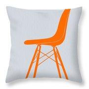 Eames Fiberglass Chair Orange Throw Pillow by Naxart Studio