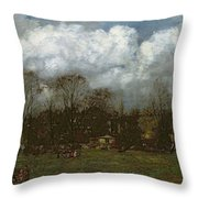 Early Spring Throw Pillow by Hans Thoma