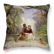 Early Summer Throw Pillow by Alfred Woolmer