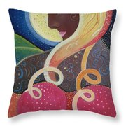 Earth Angel Throw Pillow by Helena Tiainen