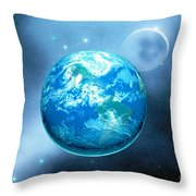 Earth Throw Pillow by Corey Ford