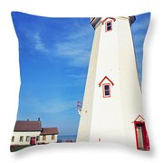 East Point Lightstation Throw Pillow by Thomas R Fletcher