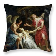 Ecstasy Of Mary Magdalene Throw Pillow by Peter Paul Rubens