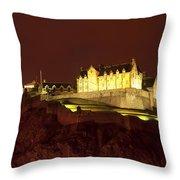 Edinburgh Castle Throw Pillow by Svetlana Sewell