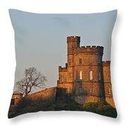 Edinburgh Scotland - Governors House And Obelisk Calton Hill Throw Pillow by Christine Till
