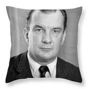 Edward Bennett Williams Throw Pillow by Granger