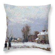 Effects Of Snow Throw Pillow by Camille Pissarro