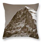 Eiger North Face Throw Pillow by Frank Tschakert