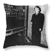 Einstein At Princeton University Throw Pillow by Science Source