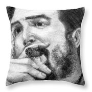 El Che Throw Pillow by Roberto Valdes Sanchez