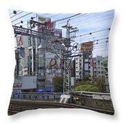 Electric Train Society -- Kansai Region Japan Throw Pillow by Daniel Hagerman