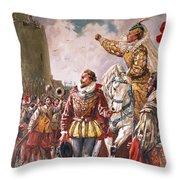 Elizabeth I The Warrior Queen Throw Pillow by CL Doughty