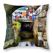 Ellicott City Bridge Arch Throw Pillow by Stephen Younts