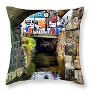 Ellicott City Bridge Arch Throw Pillow by Stephen Younts