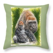 Eloquent Throw Pillow by Barbara Keith