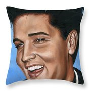 Elvis 24 1960 Throw Pillow by Rob De Vries