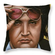 Elvis 24 1971 Throw Pillow by Rob De Vries