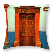 Embellished Puerta Throw Pillow by Mexicolors Art Photography