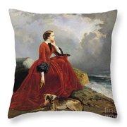 Empress Eugenie Throw Pillow by E Defonds