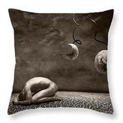 Emptiness Throw Pillow by Jacky Gerritsen